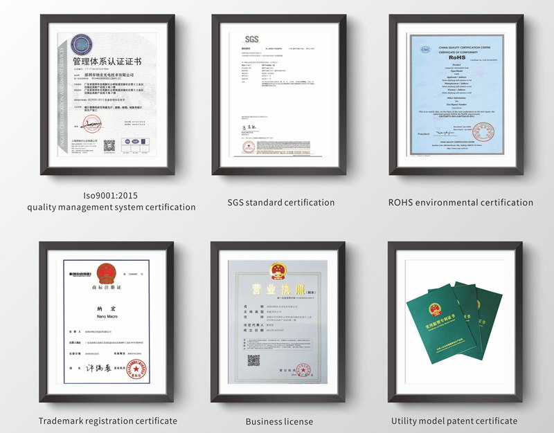 Optical filters Qualification certificate